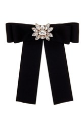 Cara Accessories Bow Pin With Floral Embellishment Metallic
