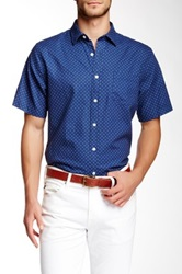 Toscano Polka Dot Shirt Blue