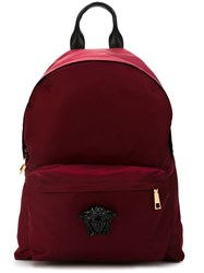 Versace 'Palazzo Medusa' Backpack Red