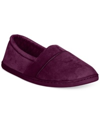 Charter Club Microvelour Closed Memory Foam Slipper Only At Macy's