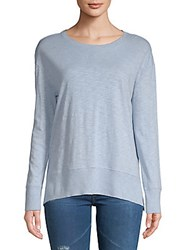 Saks Fifth Avenue Roundneck Long Sleeve Tee White