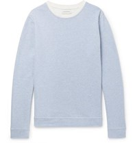 Oliver Spencer Robin Striped Loopback Cotton Jersey Sweatshirt Blue
