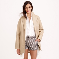 J.Crew Pre Order Bonded Cotton Trench Coat