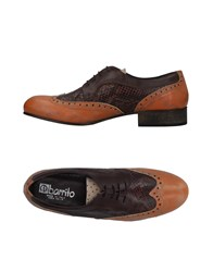Ebarrito Lace Up Shoes Rust
