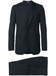 Lanvin Striped Two Piece Suit Blue