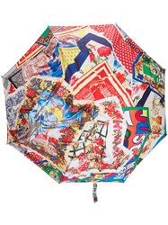Moschino Printed Scarves Umbrella Red