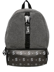 Supe Design Faux Shearling Backpack Grey