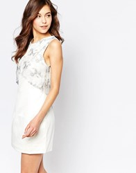 Hedonia Pippa Dress With Overlay Detail White