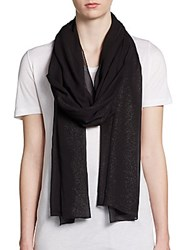 Harrison Morgan Silk Glitter Shawl Black Silver