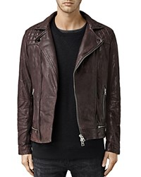 Allsaints Conroy Leather Biker Jacket Red
