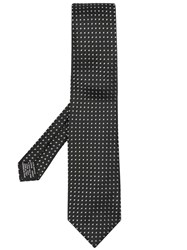 Tom Ford Classic Embroidered Tie Black
