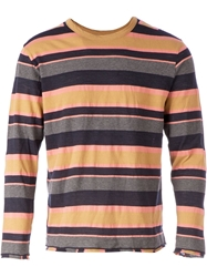 Salvy Striped T Shirt Yellow And Orange