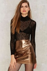 Motel Diaz Skirt Gold Bronze
