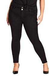 City Chic Plus Size Asha Ankle Skinny Jeans Black