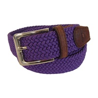 Tyler And Tyler Woven Belt Purple Pink Purple