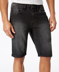 Buffalo David Bitton Men's Slim Fit Parker Denim Shorts Black