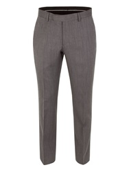 Racing Green Herringbone Tailored Fit Suit Trousers Charcoal