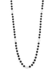 Coomi Silver Opera Diamond Black Spinel And Crystal Beaded Necklace