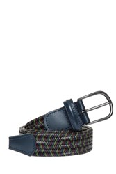 Andersons Leather Woven Belt Multi