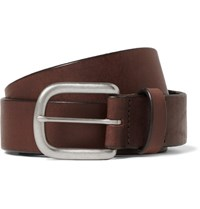 J.Crew 3.5Cm Brown Auster Arrowhead Leather Belt Brown