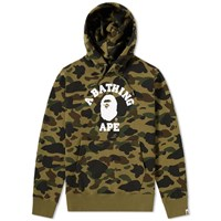 A Bathing Ape 1St Camo College Pullover Hoody