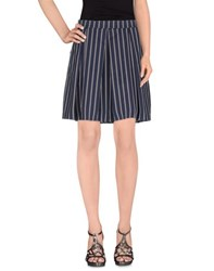 Soallure Skirts Knee Length Skirts Women Dark Blue