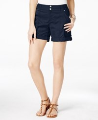 Inc International Concepts Cuffed Twill Shorts Only At Macy's Deep Twilight