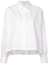 Y's Cropped Shirt White