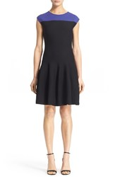 Women's Armani Collezioni Colorblock Knit Fit And Flare Dress