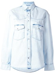 Golden Goose Deluxe Brand Denim Shirt Blue