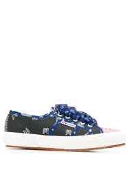 Superga Bandana Print Sneakers Blue