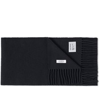 Norse Projects X Johnstons Of Elgin Lambswool Scarf Black