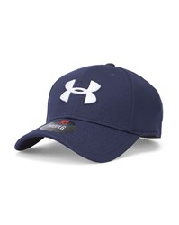 Under Armour Navy Blitzing Stretch Cap Blue