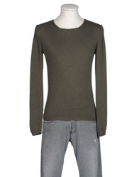 Bafy Crewneck Sweaters Military Green