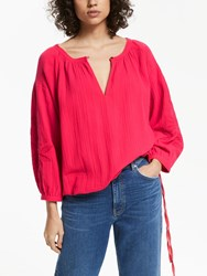 And Or Paige Embroidered Blouse Pink