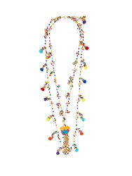 Rosantica By Michela Panero Cancun Multi Stone And Pompom Necklace