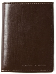 Brunello Cucinelli Engraved Logo Cardholder Brown