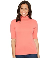 Lilla P Elbow Sleeve Turtleneck Punch Women's Clothing Pink