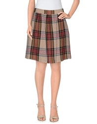 Momoni Momoni Skirts Knee Length Skirts Women Khaki