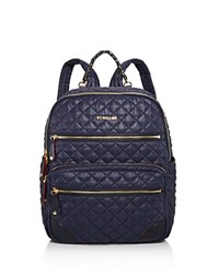 M Z Wallace Mz Crosby Backpack Navy Blue Gold