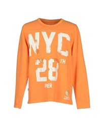 Franklin And Marshall Topwear Sweatshirts Men Orange