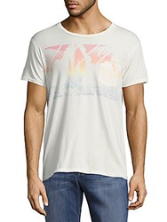 Sol Angeles Printed Short Sleeve Cotton Tee White