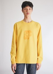 Converse A Ap Nast Long Sleeve T Shirt In Yellow Black Size Small 100 Cotton Yellow Black