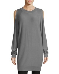 Philosophy Cold Shoulder Knit Tunic Smoke