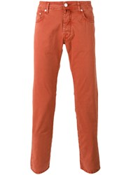 Jacob Cohen Slim Fit Chinos Yellow Orange
