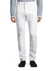 Dsquared Mid Rise Cool Guy Straight Fit Jeans White