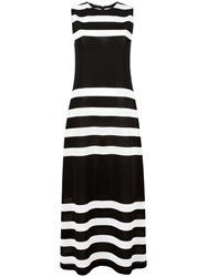 Calvin Klein Collection Stripes Fitted Dress Black