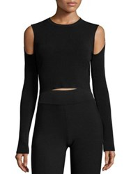 Opening Ceremony Long Sleeve Knit Crop Top White Black