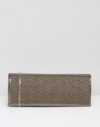Lotus Clutch Bag With Mesh Detail Pewter Mesh Shiny Grey