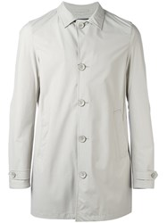 Herno Classic Buttoned Coat Nude Neutrals
